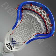 Warrior Burn Custom Strung Lacrosse Head-Royal Marble/White (NEW) Lists @ $125+