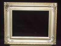 "VTG. Aesthetic Mid Century Victorian Wood Gold Picture Frame Fits 8""x 11"""