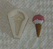 Ice Cream Cone Polymer Clay Push Mold Doll House Food Free ship after first one