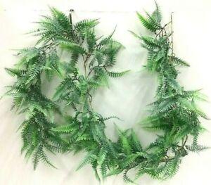 "Lace Fern Garland~PVC/Artificial~Dusty Two Tone Green~5 1/2"" ft long"