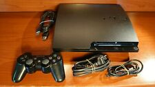 1990 Sony Playstation 3 Slim 320GB Black Console CECH-3004B + accessories PS3