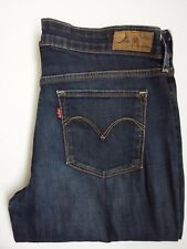 LEVI'S SLIGHT CURVE JEANS WOMEN'S STRAIGHT LEG W30 L32 DARK BLUE LEVH825 #