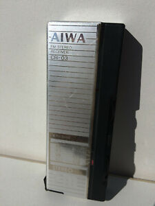 Aiwa CR-03 Radio Receiver FM range Best capture Tuner Metal body color Silver
