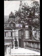 SAINT-AIGNAN-sur-CHER (41) ENFANTS au PORTAIL en fer forgé du CHATEAU début 1900