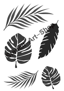 Tropical Leaves stencil - various sizes and shapes - A4/A5/A6