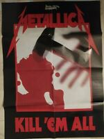 METALLICA Kill Em All / KISS Live In Athens Double Sided Posters Heavy Metal ROC