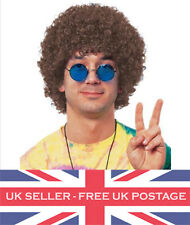 Brown Afro Wig 60s 70s Mega Fancy Dress Costume Party Accessory Disco Outfit UK