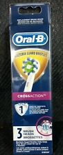 NEW 3 Pack Oral-B Cross Action Replacement Toothbrush Heads ~ White