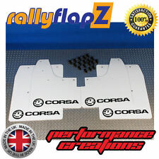 Rallyflapz per adattarsi VAUXHALL CORSA C (00-07) ANTIBECCHEGGIO LOGO BIANCO NERO PVC 3mm