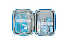 Baby Health Care Grooming Kit Hair Brush Finger Toothbrush Scissors Nose Sucker