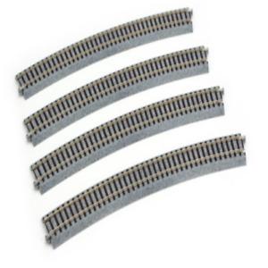 """Kato 2-250 HO Scale 790mm (31 1/8"""") Radius 22.5º Curve Track [4 pcs] UniTrack"""