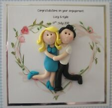 Personalised engagement card by Hot Dough Creations