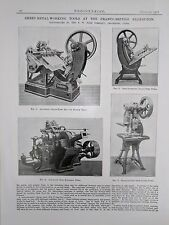Sheet Metal Working Tools: Made In Paris: 1908 Engineering Magazine Print