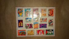 A sealed cardboard'Framed',of 17 stamps from Tunisia 1980's.
