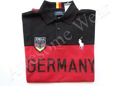 New Ralph Lauren Polo Pony Custom Fit Red 100% Cotton Germany Shirt SLIM sz L