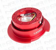 NRG Steering Wheel GEN 2.5 QUICK RELEASE Kit (RED Body with RED Ring)