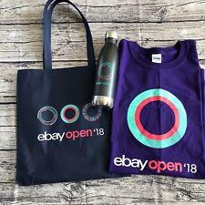 eBay Open 2018 Swag Bag Water Bottle T-Shirt Unisex Sz XL Collectible Ebayana