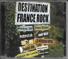 2 CD COMPIL 36 TITRES--DESTINATION FRANCE ROCK--TETES RAIDES/DIONYSOS/NOIR DESIR