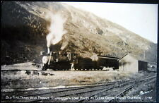 CLEAR CREEK CO ~ 1930's OLD TIME TRAIN OVER GEORGETOWN LOOP~SANBORN RPPC