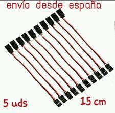 Cable extension servo 15cm, conector jr futaba, macho a hembra (5 unidades)