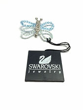 """""""SWAROVSKI"""" Swan Mark Crystal Butterfly Pin Moveable Beaded Wings - New"""