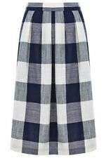 Checked A-line Casual Regular Size Skirts for Women