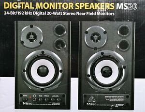 Behringer MS20 Active Studio Monitors pair   New.