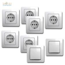 EKONOMIK Kit de démarrage 8 pièces blanc Flush 250V~ Prises & Interrupteur