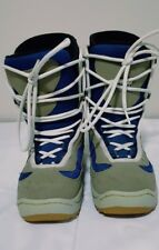 Limited LTD Galaxy Snowboard Boots Womens Size 9 Lined Grey and Blue Synth Upper