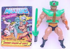 1983 MATTEL MOTU HE-MAN MASTERS OF THE UNIVERSE SER 2 TRI-CLOPS FIGURE & COMIC