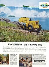 Vintage automobile Print car ad Yale & Towne tractor shovel Niagra Falls Trojan