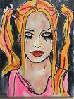 Harley Quinn Margot Robbie Birds of Prey hand painted DC Comic signed canvas art