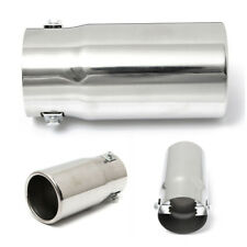 "Chrome Round 2.25"" Inlet Exhaust Tip Stainless Steel Car Muffler Tail Pipe Cover"