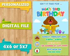 DIGITAL FILE HEY DUGGEE DUGGIE BIRTHDAY PARTY INVITE INVITATION PRINTABLE CUSTOM