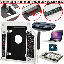 SATA 2ND HDD SSD HARD DRIVE CADDY CASE FOR 9.5MM UNIVERSAL LAPTOP CD DVD-ROM