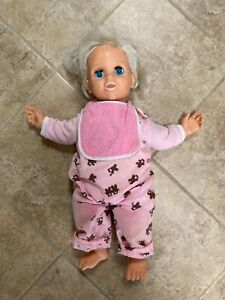 Vintage 1980s Baby Talk Talking Doll by Lewis Galoob- Tested Working!