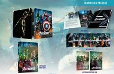 Avengers Blu Ray Steelbook NEW RARE SEALED FIRST RELEASE Novamedia LENTICULAR