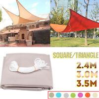Triangle Square Sun Shade Sail Yard Garden Canopy Patio Cover Awning UV Block