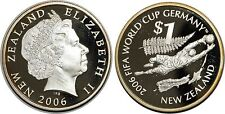 NEW ZEALND   DOLLAR 2006 KM#158 FIFA WORLD CUP GERMANY  ARGENT SILVER 0.925