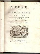 1763. In HELMSTAT [i.e. Verona] – PAOLO SARPI