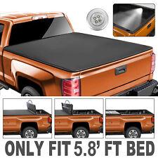Truck Tonneau Cover 5.8FT Bed 4-FOLD For GMC Sierra Chevrolet Silverado 1500