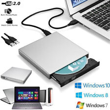 Portable External USB 2.0 DVD CD RW Drive Burner writer player Windows Computer