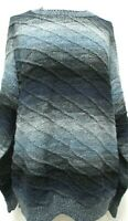 Protege Collection Vintage Coogi Style blue gray Sweater Size Sz Large Lg L