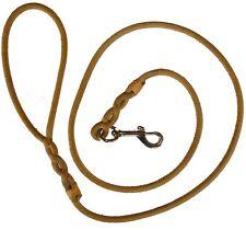 guinzaglio cuoio naturale morbido per cane da caccia o passeggio cani