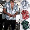 Men's Summer Vintage Casual Dress Shirt Mens Floral Short Sleeve Shirts Tops Tee