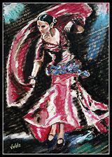 Flamenco ARTPRINT Volker Welz Künstler Tänzerin Spanien Folklore Tanz Weltmusik