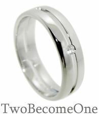 9 Carat Wedding White Gold VS2 Fine Diamond Rings