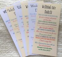 x12 Wedding Day Dares Game Cards Activity Table Decoration