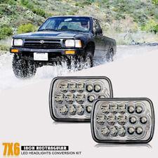 Pair CREE  H6054 7x6 LED Headlights Sealed Beam for Toyota Pickup Truck Headlamp