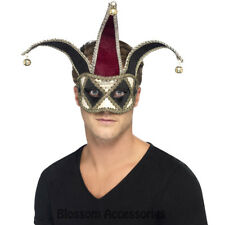 A944 Venetian Harlequin Jester Eye Mask Masquerade Halloween Costume Accessory